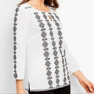 Talbots Women Embroidered Tunic Top.